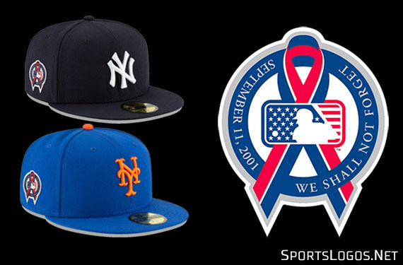 Ribbons on Caps as MLB Teams, Players Remember 9-11
