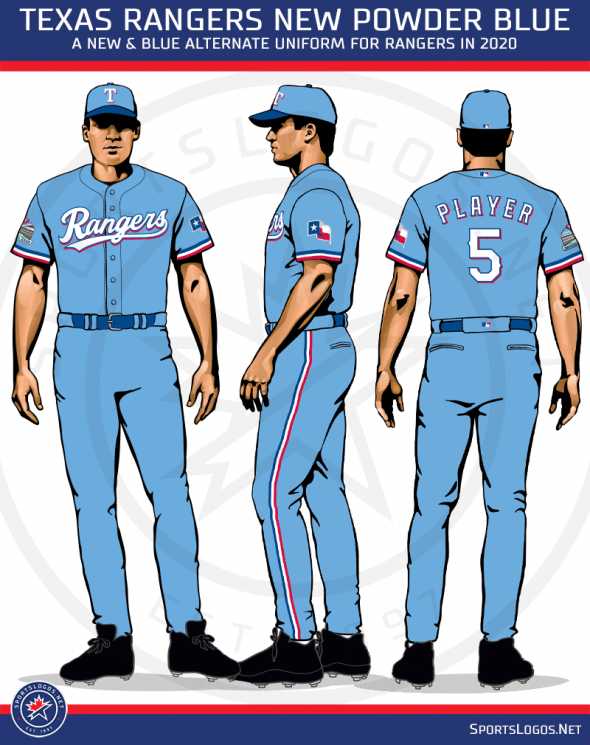 Texas Rangers Go Powder Blue Unveil Five New Uniforms Sportslogos Net News