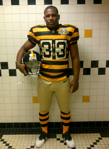 The Pittsburgh Steelers today unveiled their 80th anniversary throwback  uniform ... cb501fc16
