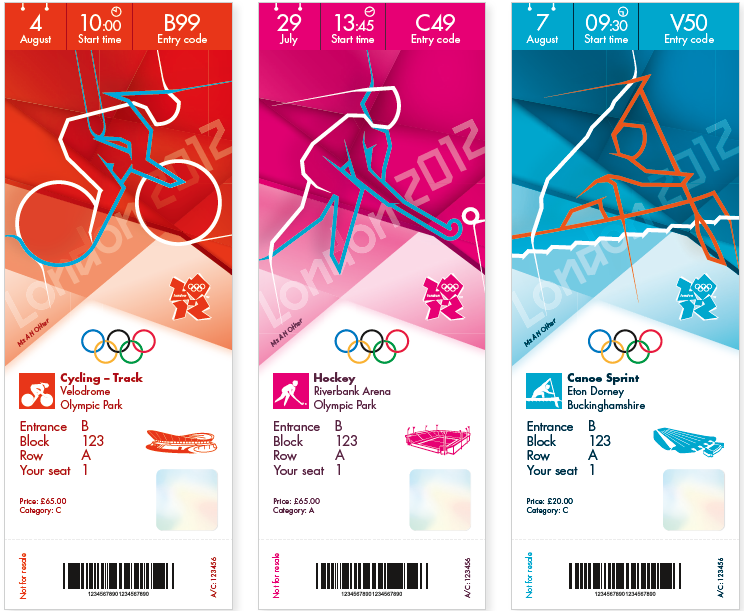London 2012 Olympic Ticket Design