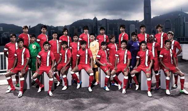 New Hong Kong Football Association soccer uniforms