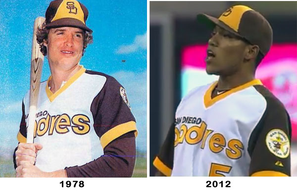 sports shoes b2721 c1dcd San Diego Padres wear 1978 Throwback Uniform | Chris ...