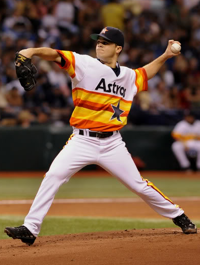 Houston Astros 1970s Rainbow Guts Throwback Uniform