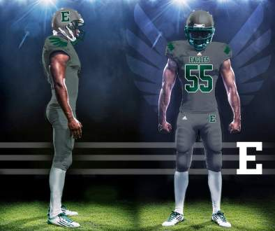 EMU Eastern Michigan Eagles NCAA Football New Uniforms