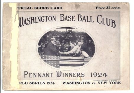 Washington Nationals Throwback to the Senators program cover base ball