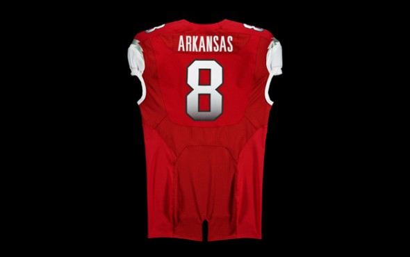 New Arkansas Uniforms jerseys razorbacks ncaa football