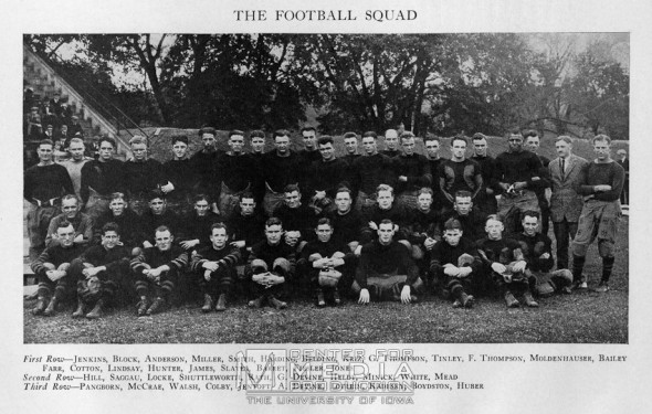 Iowa Haweyes throwback uniform 1921 team photo