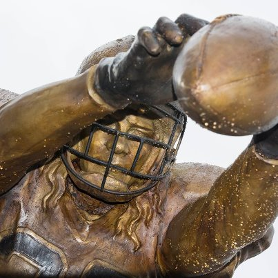Saints vs Falcons stadium statue situation gleason closeup