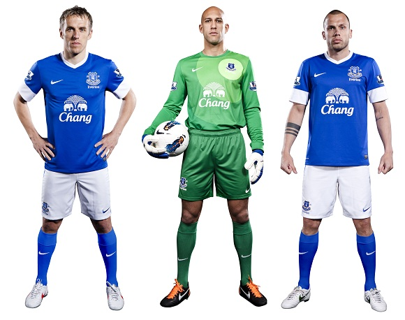 Everton new kit soccer jersey uniform nike