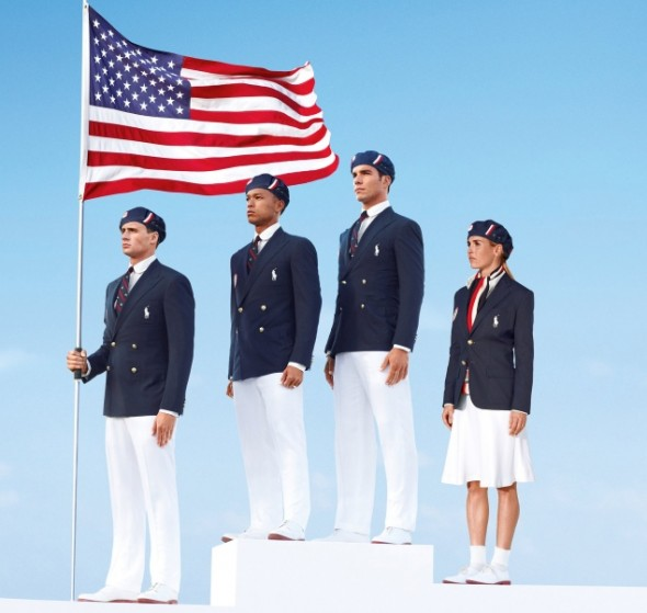 USA Olympic Team uniforms outfits opening ceremony US polo 2012 team