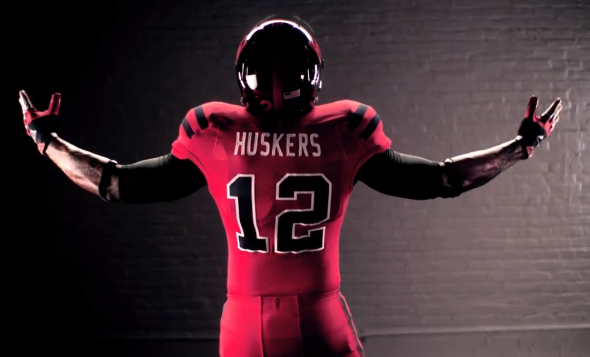 Nebraska Alternate Uniforms Against Wisconsin back