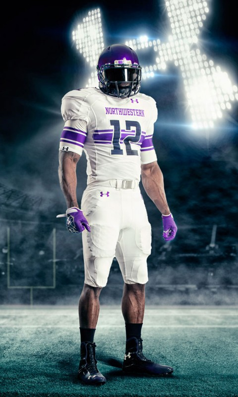 northwestern university new uniforms uni under armour wildcats all white