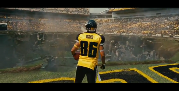 Batman The Dark Knight Rises Gotham Rogues hines ward with hole