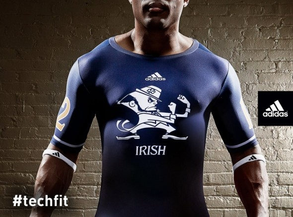 Notre Dame Shamrock Series new uniforms undershirt