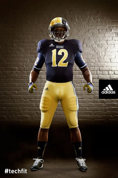Notre Dame Shamrock Series new uniforms front