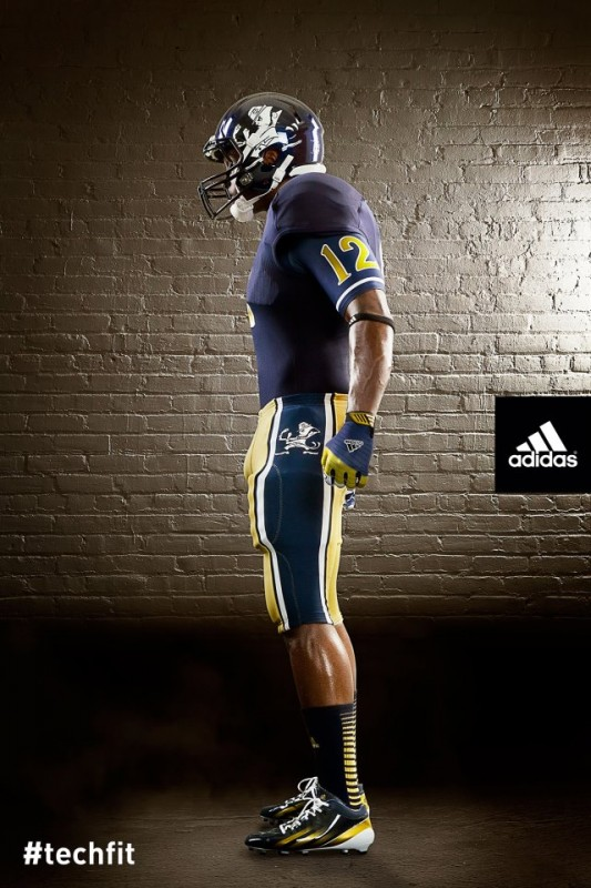 Notre Dame Shamrock Series new uniforms side