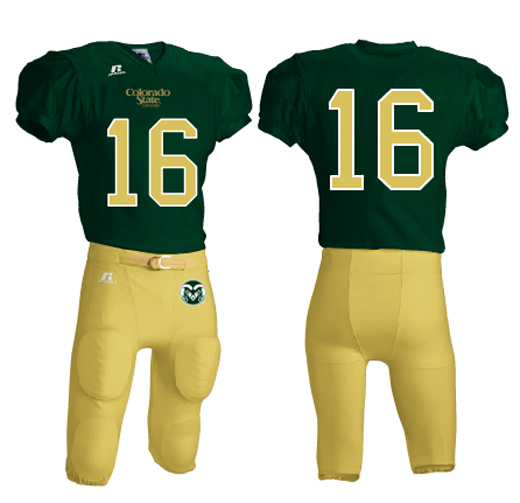 Colorado State Rams new uniforms gold green