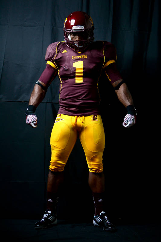 Central Michigan Chippewas new uniforms adidas mismatch maroons