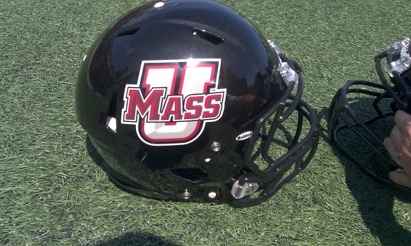 UMass Minutemen New Helmets FBS black helmet logo