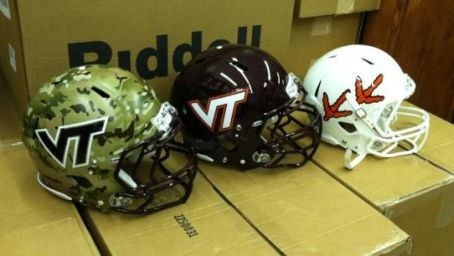 Virginia Tech Hokies White Helmet 3 types