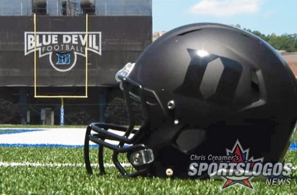 Duke Blue Devils New Helmets Black Matte Flat Blue monochrome