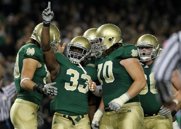 Notre Dame Shamrock Series new uniforms against Army in New York 2010