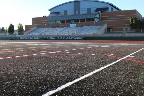West Salem Oregon High School Titans black field turf - field house