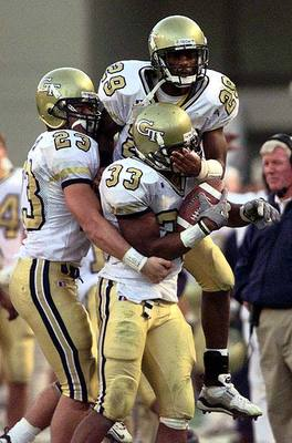Georgia Tech new uniforms ugly honeycomb white chickenwire helmet awful 1999