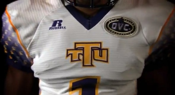 Tennessee Tech Golden Eagles Russell new uniforms - front