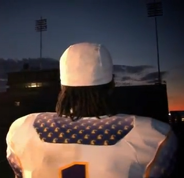 Tennessee Tech Golden Eagles Russell new uniforms - nameplate