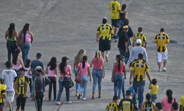 Breast Cancer Awareness, Venezuelan Primera Division side Deportivo Tachira soccer pink riot fans