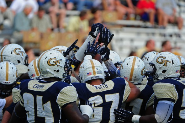 SportsLogos.Net Best/Worst 2012 college football NCAA worst uniform awards - Georgia Tech navy