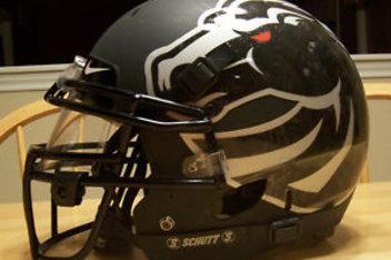 Boise State black black-out nike broncos - helmet shine