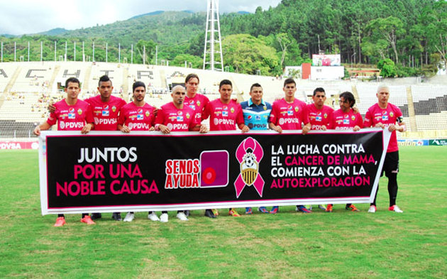 Breast Cancer Awareness, Venezuelan Primera Division side Deportivo Tachira soccer pink riot