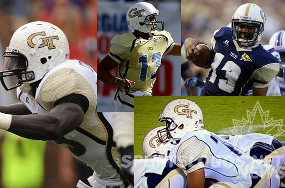 SportsLogos.Net Best/Worst 2012 college football NCAA worst uniform awards - Georgia Tech collage