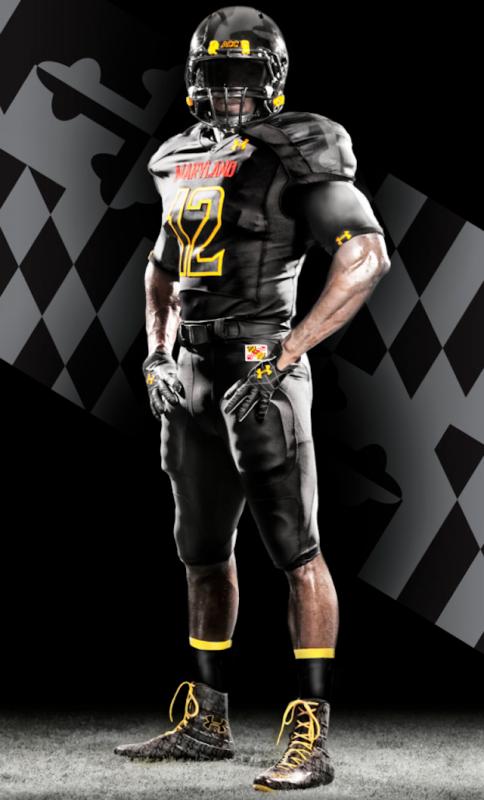 Under Armour Black Ops Maryland Terrapins uniform jersey alt - standing