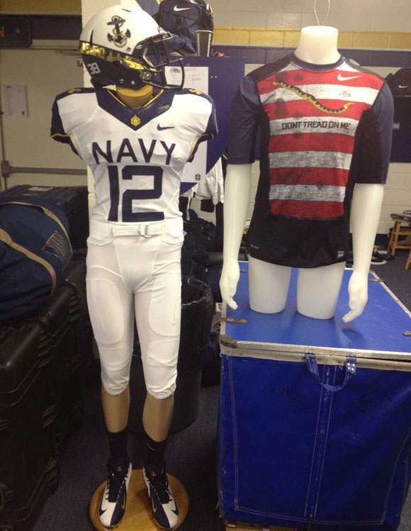 Navy Nike Univorms football college Commander-in-Chief's Trophy tall