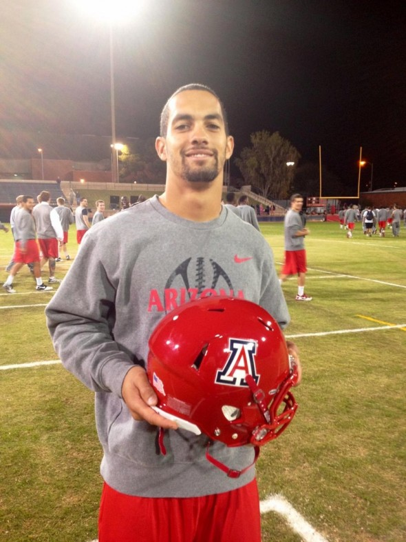 Arizona redout red uniforms red helmet Matt Scott