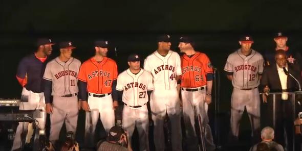 new styles 66cb8 7ff5c Houston Astros Officially Unveil New Logos, Uniforms | Chris ...