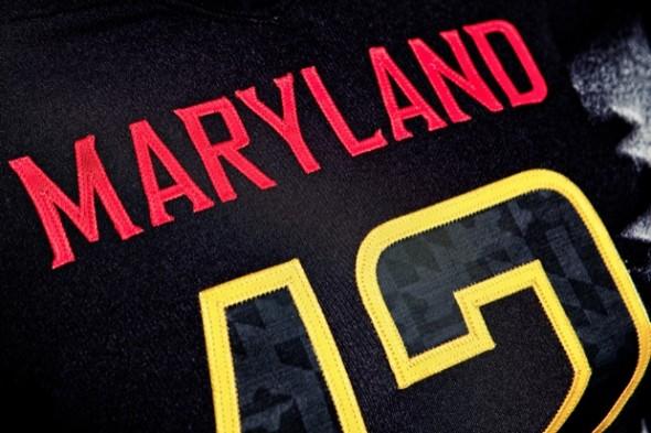 Under Armour Black Ops Maryland Terrapins uniform jersey alt - detail