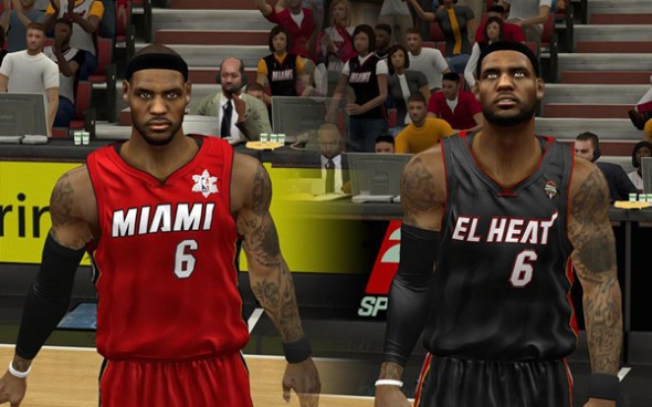 Miami Heat Alternate uniforms 2012 2013 new announced white black Noche Latina - red black