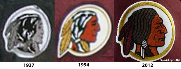 Washington Redskins throwback panthers sunday November retro leather helmets - logo comparison