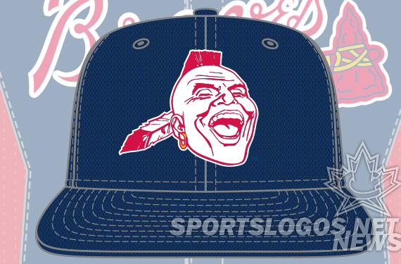 Atlanta Braves Batting Cap hat 2013 indian logo - featured