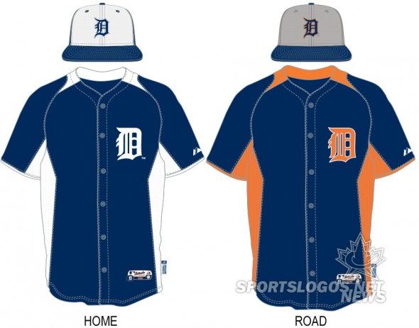 2013 BP Batting Practice Detroit Tigers - jerseys