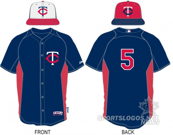 2013 BP Batting Practice Minnesota twins - uniform