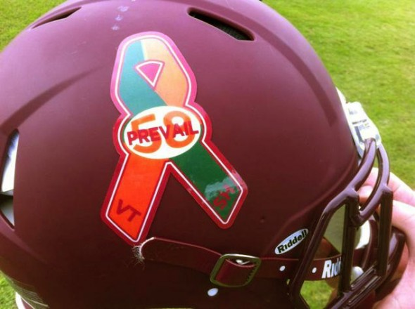 Virginia Tech Sandy Hook tribute sticker decal 58 prevail - close