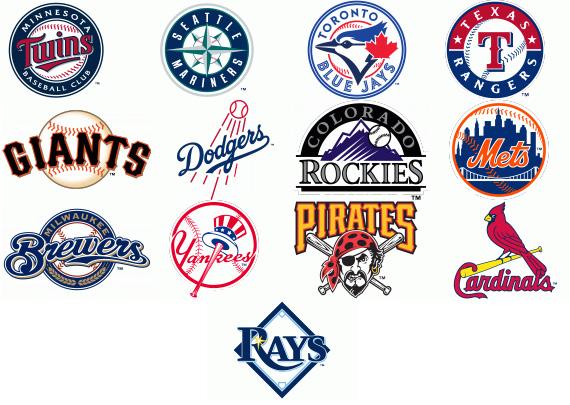 Baseball team logos 2013