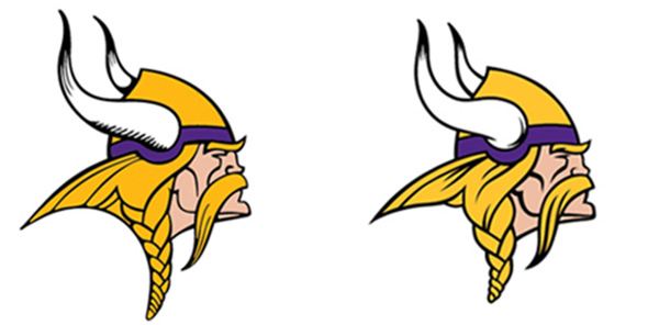 old and new Minnesota Vikings 2013 New Logo