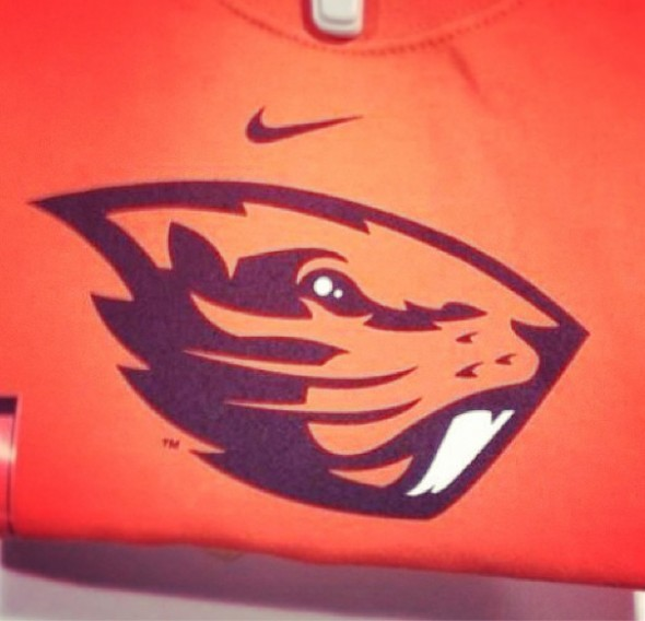 Oregon State Beavers logo beaver sportslogos.net - shirt