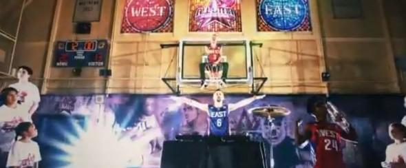 Macklemore Wing$ video NBA shoes promotional - basket